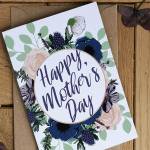 Happy Mother's Day Card - Navy