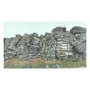 "Art Card - ""Heather Wall - Stanage Edge"""