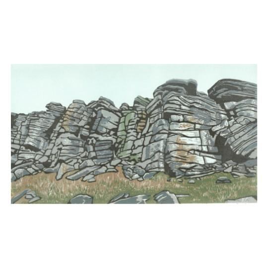 Heather Wall  - Stanage Edge Original Linocut Artwork