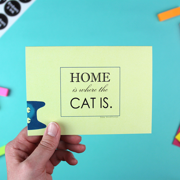 Home Is Where The Cat Is Greetings Card