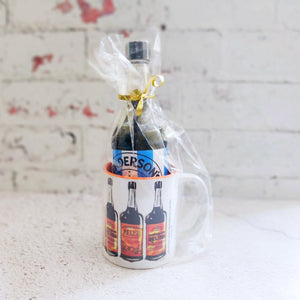 Henderson's Relish Mug with a Sheffield Wednesday bottle of Hendos Gift Set