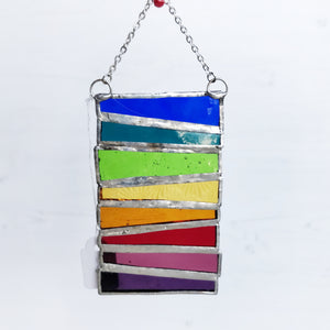 Hanging Glass Stack - Rainbow
