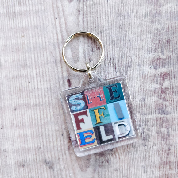Sheffield Typography Keyring