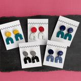 Horseshoe on Stud Enamel Earrings