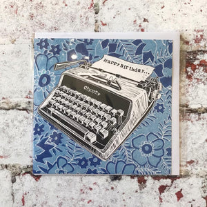 Typewriter 'Happy Birthday'  Card