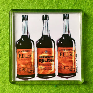 Henderson's Relish Square Fridge Magnet