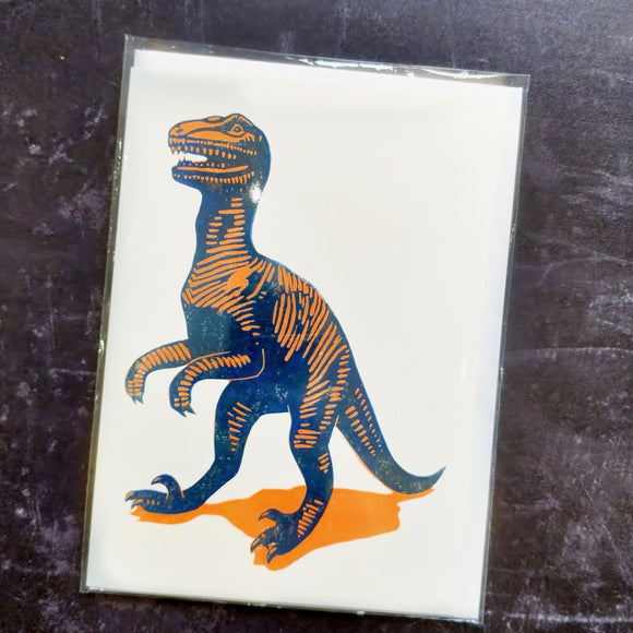 Deinonychus Lino Art Card