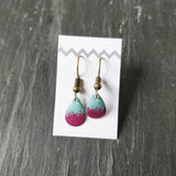 Small Teardrop Enamel Dangly Earring