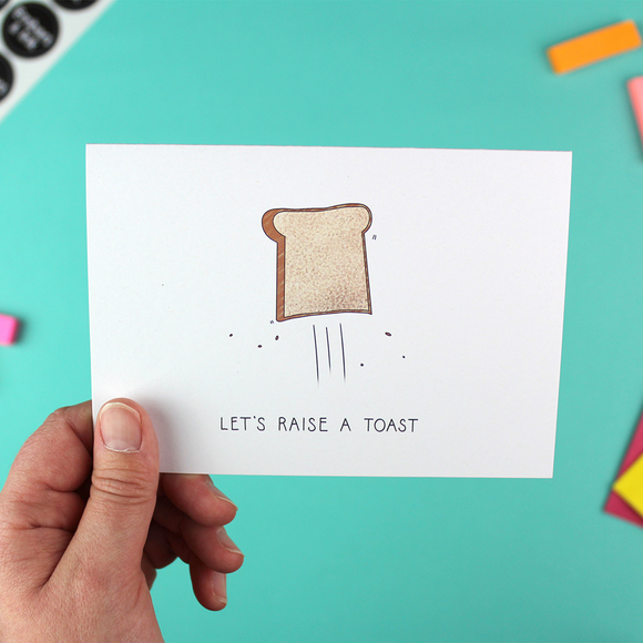 Let's Raise a Toast Greetings Card