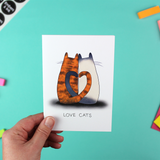Love Cats Greetings Card