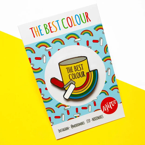 The Best Colour Pin Badge