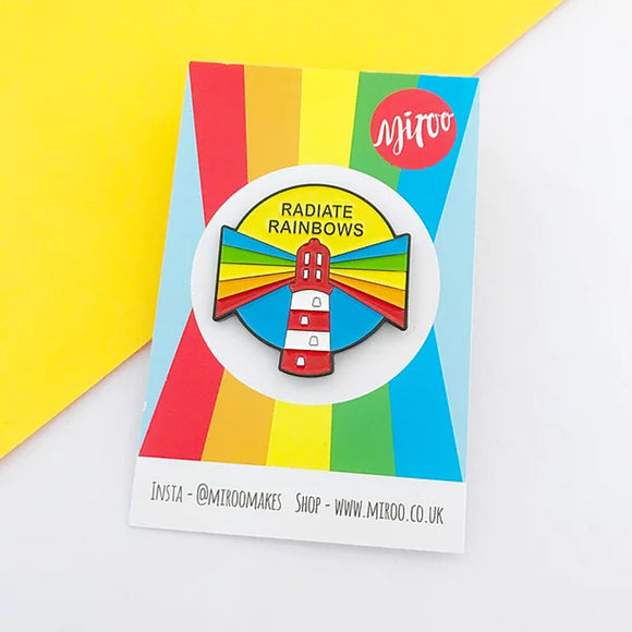 Radiate Rainbows Pin Badge