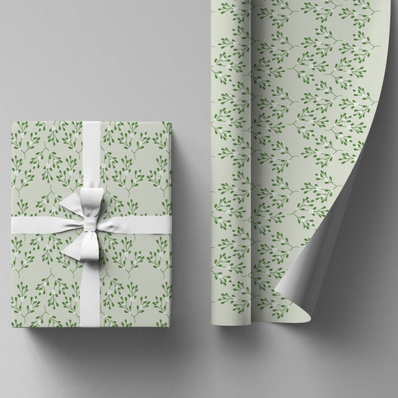 Mistletoe Wrapping Paper Sheet