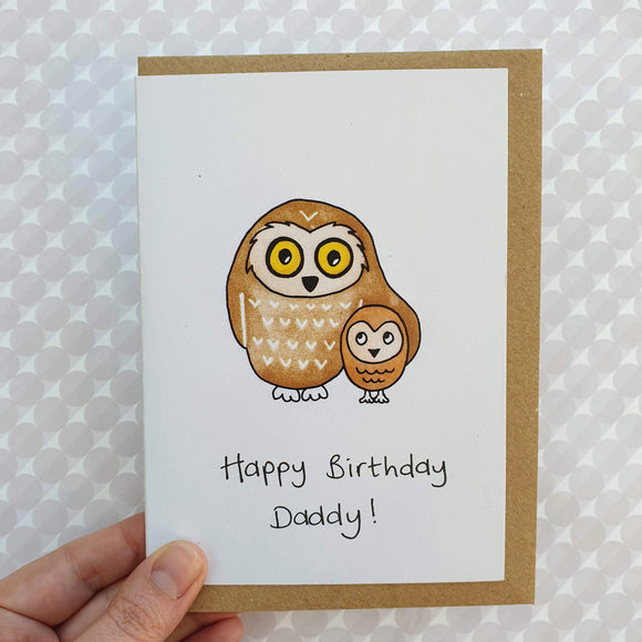 Cute Owls - Daddy birthday card