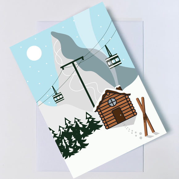 Christmas Chalet Greetings Card A6