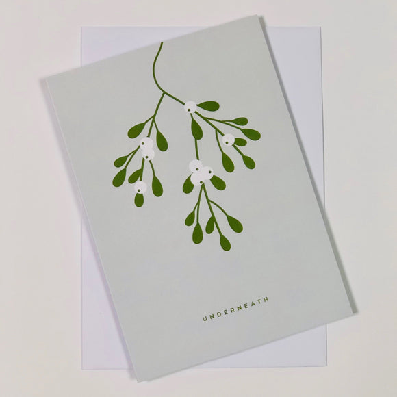 Mistletoe Christmas Card A6