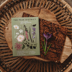 The Peak District Botanical Illustration Card
