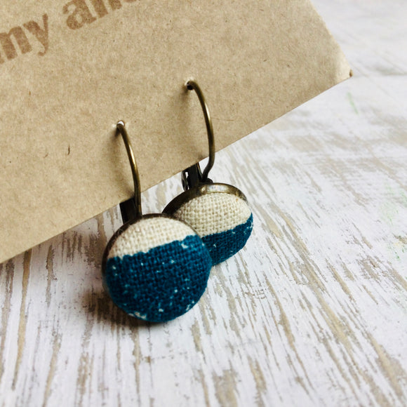 Japanese Fabric Earrings / Two Colours Print