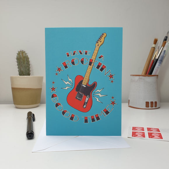 'Have a Rockin Good Time' Greetings Card