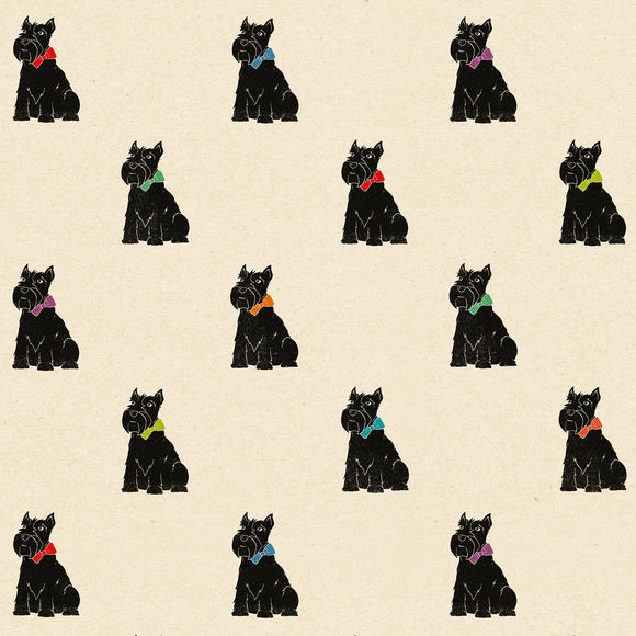 Scottie Dog Wrapping Paper Sheet // 70 cm x 50 cm / 27.5