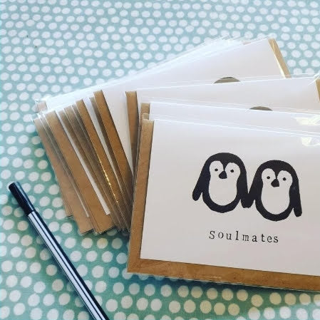 'Soulmates' Penguins Card