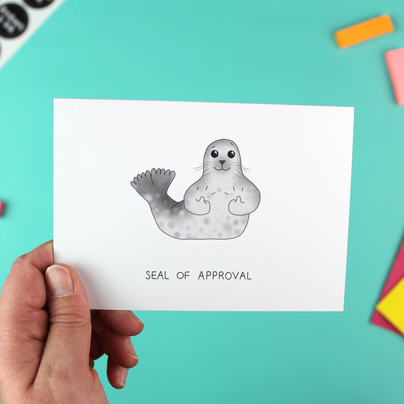 Seal of Approval Greetings Card