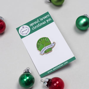 Sprout Haters Christmas Pin Badge