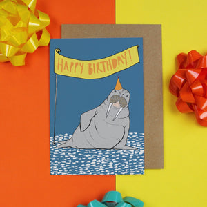 Walrus Birthday Card