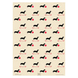 "Christmas Dachshunds Wrapping Paper Sheet // 70 cm x 50 cm / 27.5"" x 19.5"""