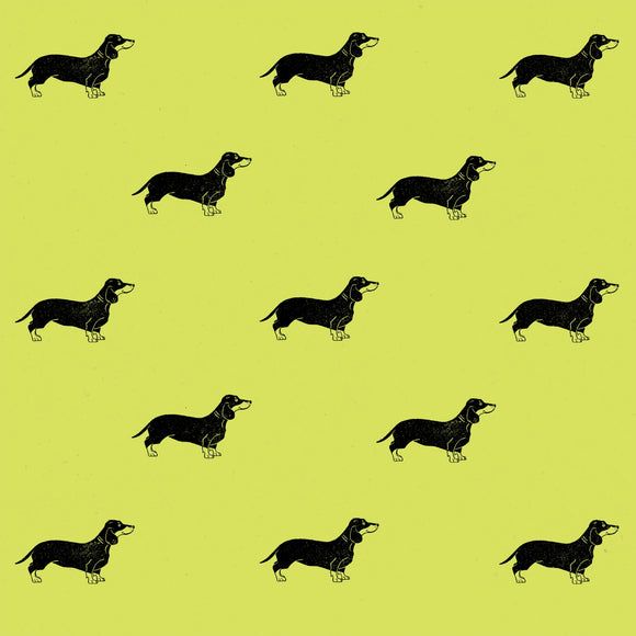 Sausage Dog Wrapping Paper Sheet // Various Colours // 70 cm x 50 cm / 27.5