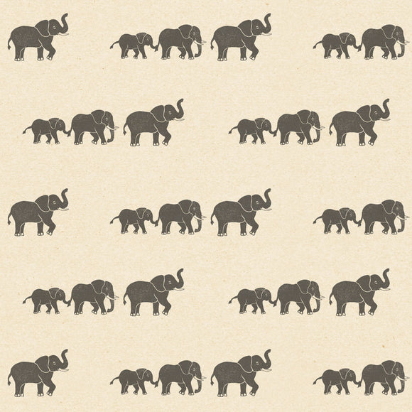 Elephant Wrapping Paper Sheet // Cream // 70 cm x 50 cm / 27.5