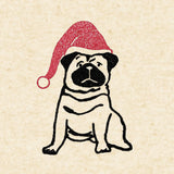 "Christmas Pug Wrapping Paper Sheet // 70 cm x 50 cm / 27.5"" x 19.5"""