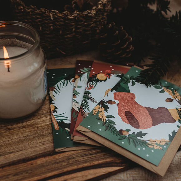 Winter Warmth Set of 4 Cosy Christmas Cards