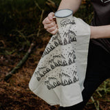 Forest and mountains screen printed T-Towel