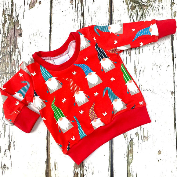 Red Christmas Gnomes Jumper