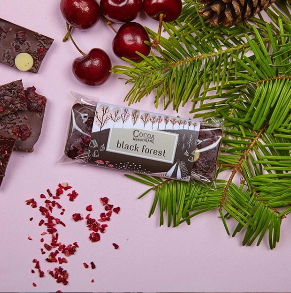 Black Forest Dark Chocolate Bar