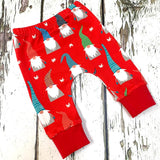 Red Christmas Gnome Leggings