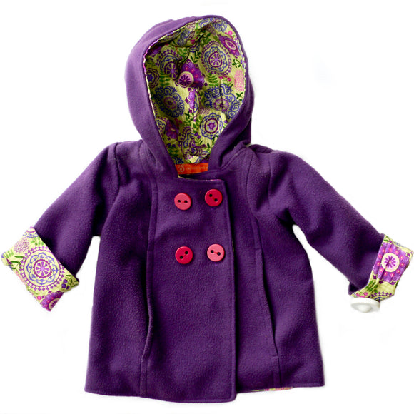 Age 2 Purple Duffle Coat