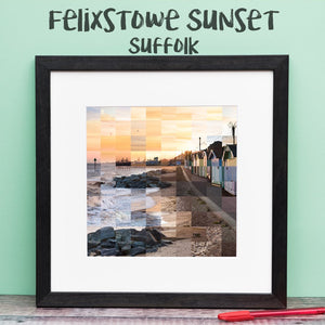 """100 Remnants of Felixstowe Beach at Sunset"" Photo Montage"