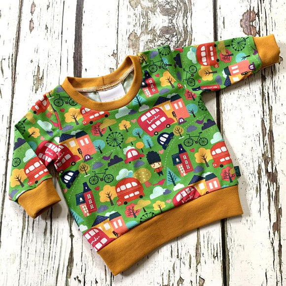 London Bus Baby Jumper