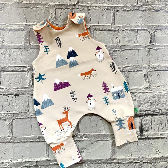 Snowman Christmas Baby Romper