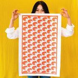 Fox Print Tea Towel