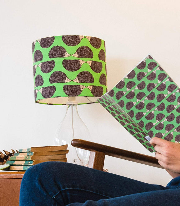 Hedgehog Print Lampshade