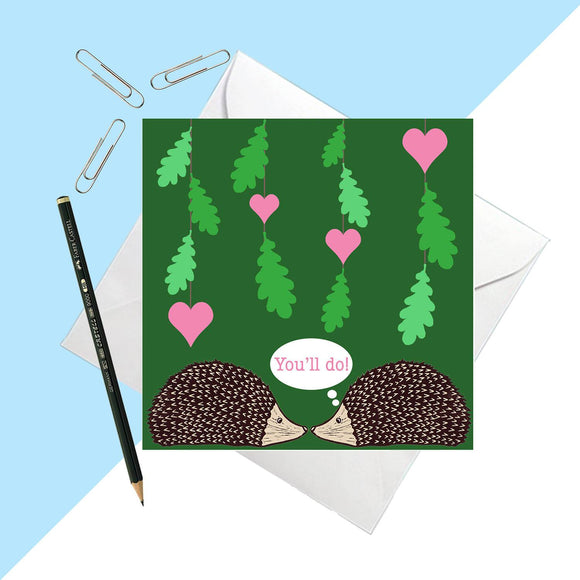 Hedgehog 'love' card