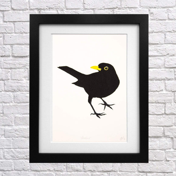 Blackbird Screen Print