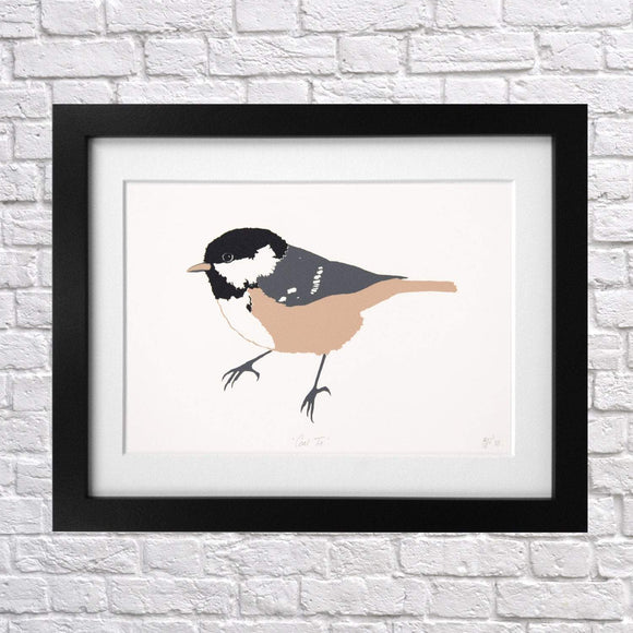 Coal Tit Screen Print