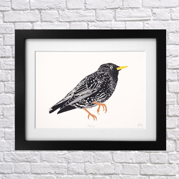 Starling Screen Print