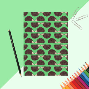 Hedgehog Print Notebook