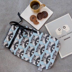 Raccoon Print Hot Water Bottle