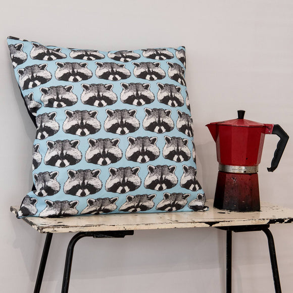 Raccoon Print Cushion